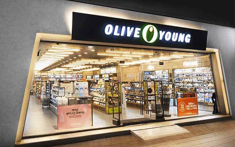 Korean cosmetics at Olive Young
