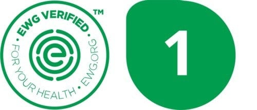 EWG VERIFIED mark and  EWG green rating mark