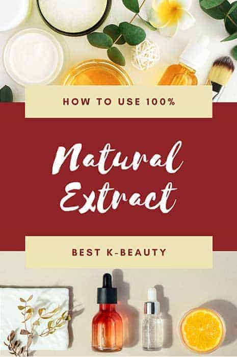 100% natural extract for skincare