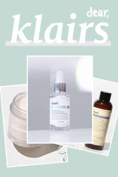 dear klairs-Korean skincare brand